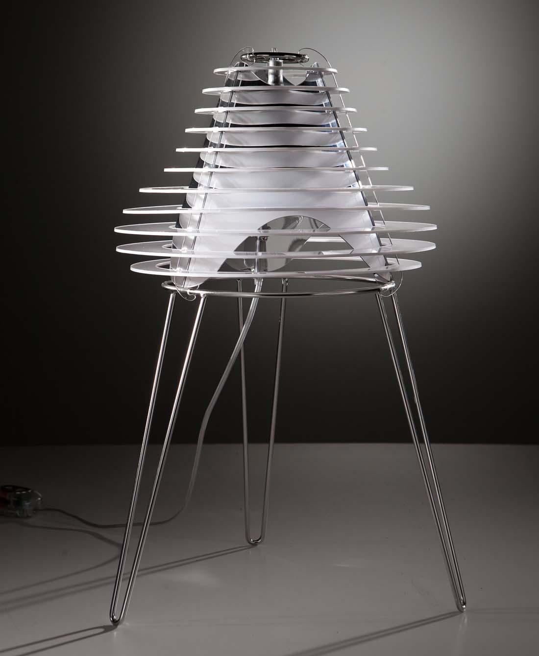 Designer Tischleuchte Weiss