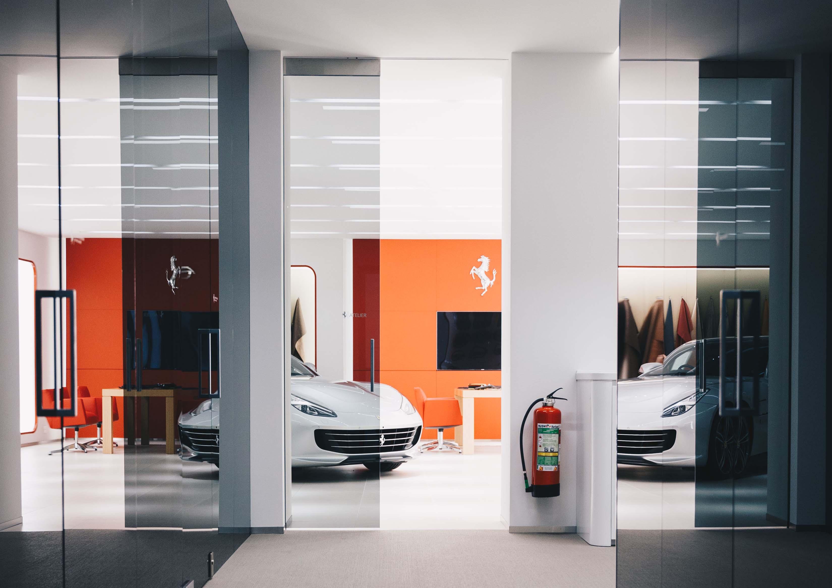 Ferrari Büro Beleuchtungskonzept