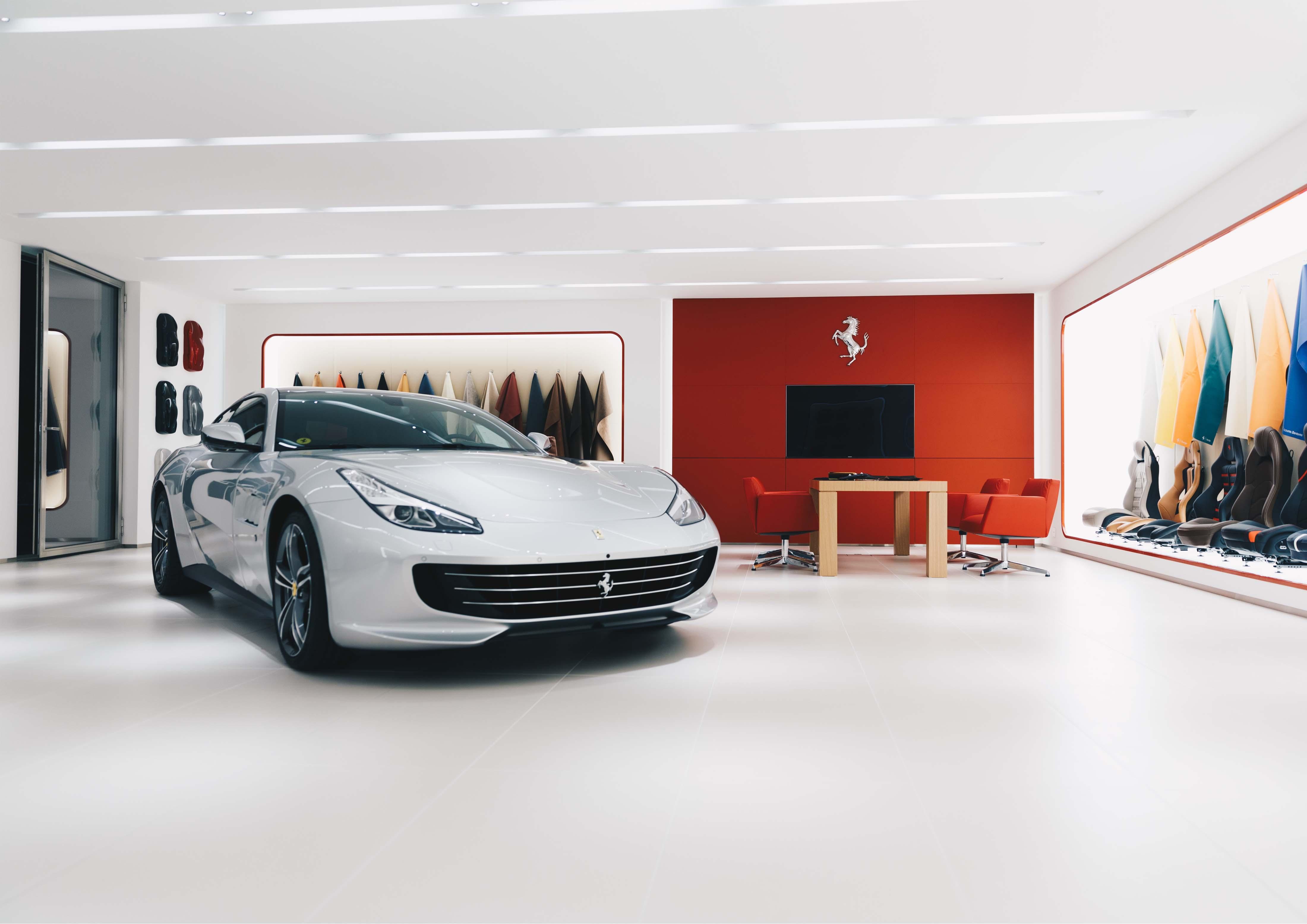Ferrari Showroombeleuchtung Niki Hasler