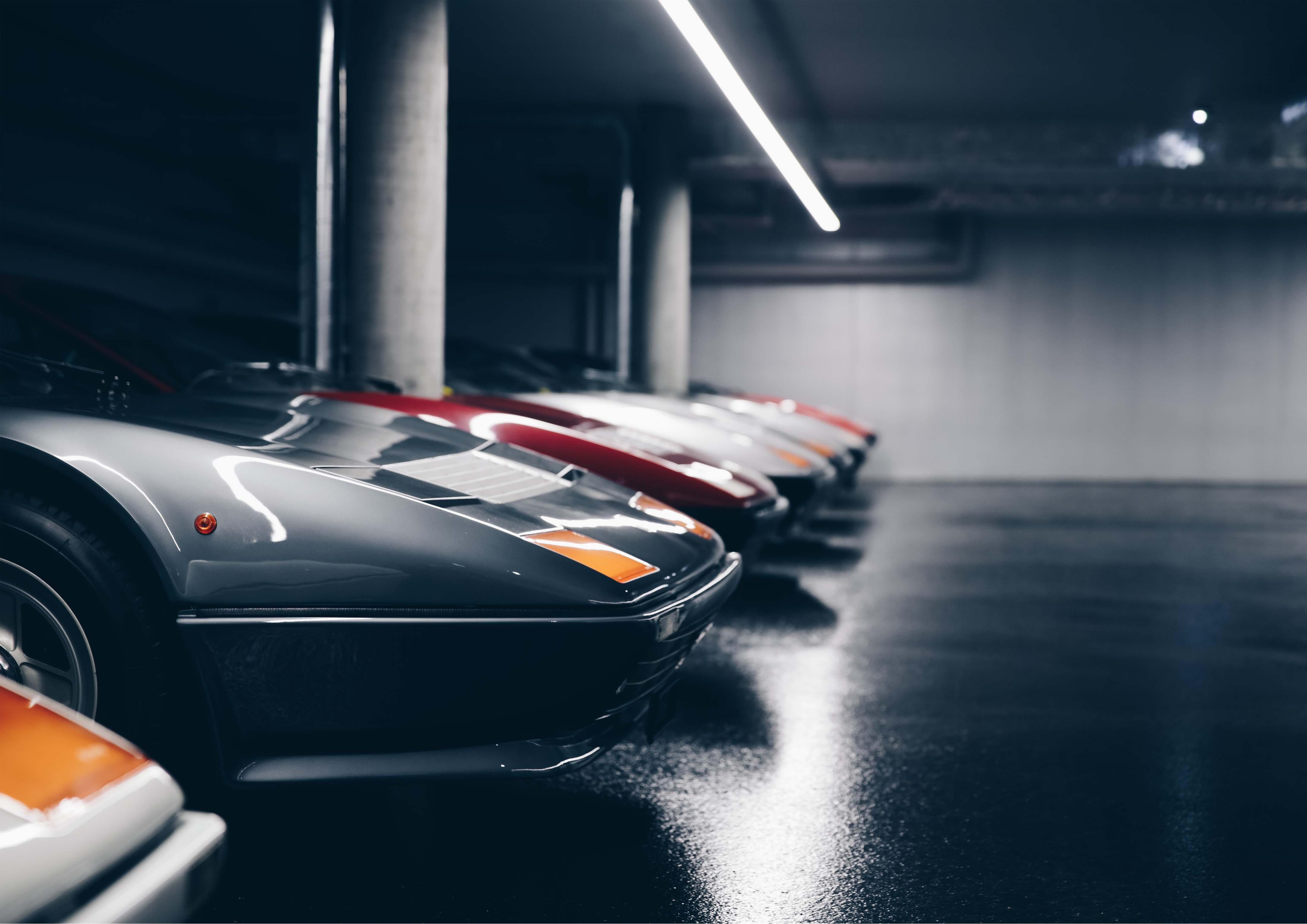 Ferrari Tiefgaragenbeleuchtung Detail