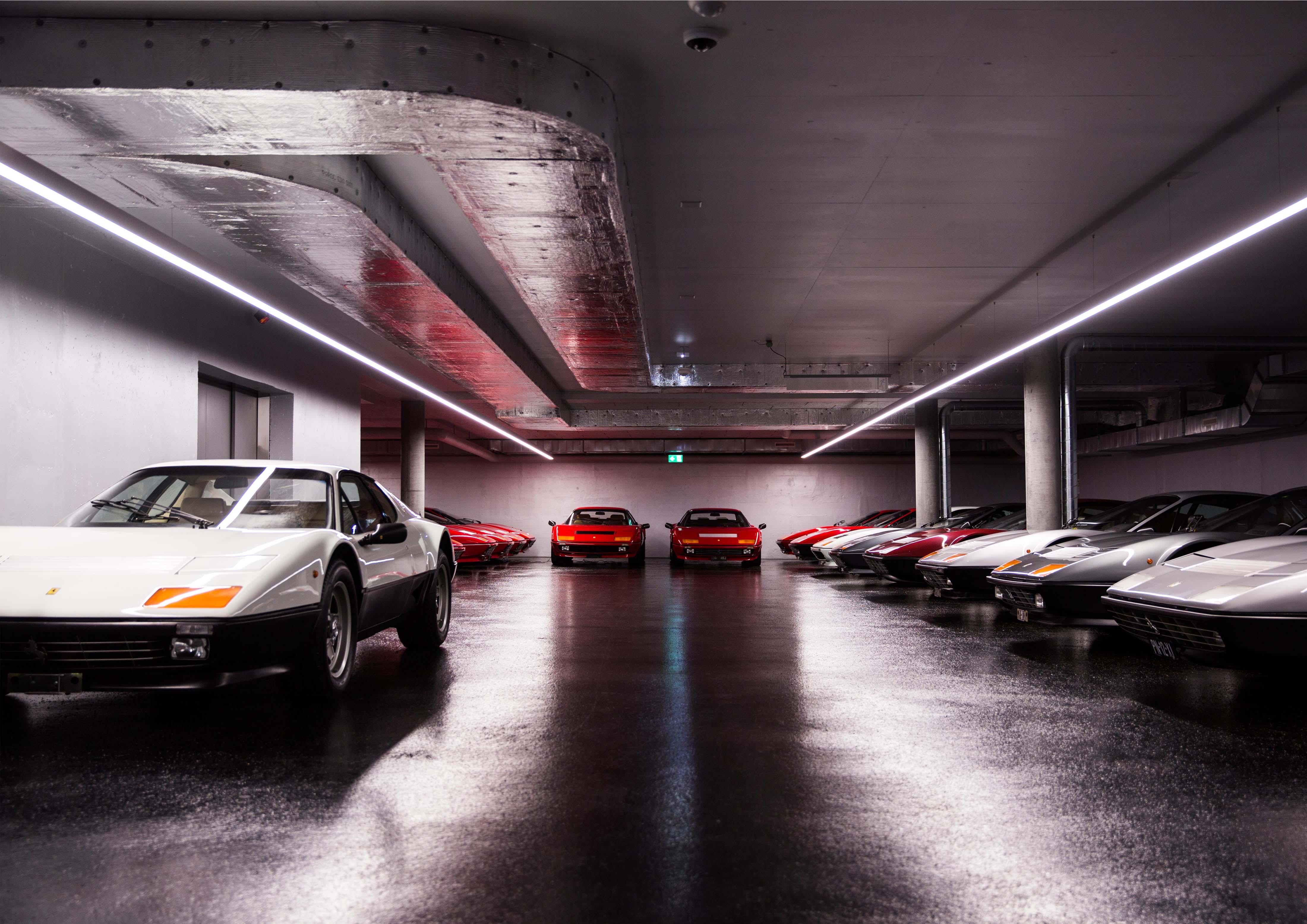 Ferrari Tiefgaragenbeleuchtung